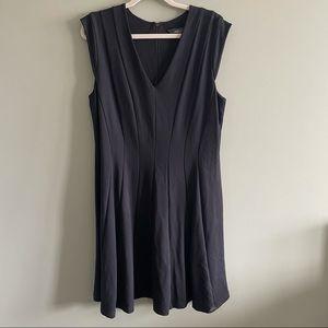 Michel Studio Black Cap Sleeve Dress